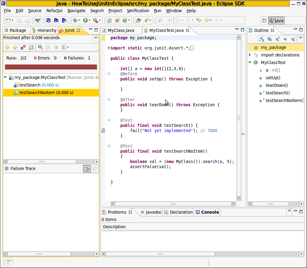 How to use JUnit in Eclipse